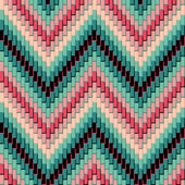 Herringbone Pattern_Pink-Green — Stock Vector