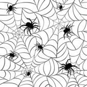 Spiders and Webs_White — Stock Vector