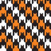 Catstooth halloween vzor — Stock vektor