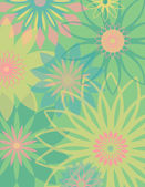 Springtime Flowers — Stock Vector