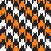 CatsTooth Halloween Pattern — Stock Vector