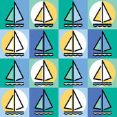 Sailboat Pattern — Stock Vector