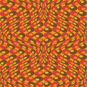 オレンジ色でレトロな円パターン — ストックベクタ