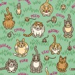 ������, ������: Cats and Critters Pattern