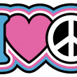 I Heart Peace — Stock Vector #48211579