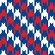 Patriotic Houndstooth Pattern — Stock Vector #51480265