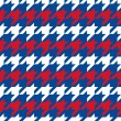 Patriotic Houndstooth Pattern — Stock Vector #51480271