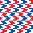 Patriotic Houndstooth Pattern — Stock Vector #51480295