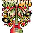 Peace, Love and Music — Stock Vector #51481849