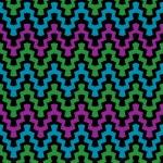 Retro Zigzag Pattern 2 — ストックベクタ