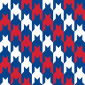 Patriotic Houndstooth Pattern — Stock Vector