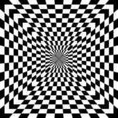 Checkered Optical Illusion — Stock Vector