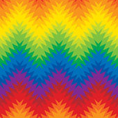 Blurry Zigzag in Rainbow Colors — Stock Vector