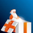 Big Santa´s gift — Stock Photo