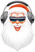 圣诞老人 dj — 图库照片