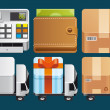 Shopping icons — Stock Photo