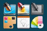 Grafik-design-ikonen — Stockfoto