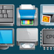 Hardware  icons — Stock Photo