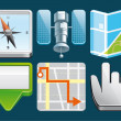 Location  icons — Stock Photo