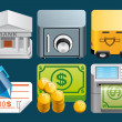 Finance icons — Stock Photo