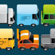 Vehicles icons - Stock Photo