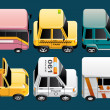 Vehicles  icons — Foto de Stock