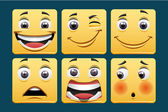 Emoticon icons — Stock Photo