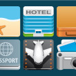 Vacation icons — Stock Photo