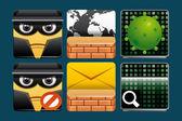 Internet güvenlik simgeleri — Stok fotoğraf