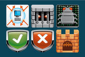 ícones de segurança de internet — Foto Stock
