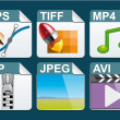 File type  icons — Stock Photo