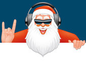 Santa dj banner — Stock Photo