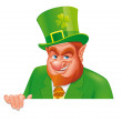 Leprechaun banner — Stock Photo