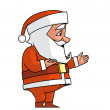 Santa showing something — Stock Photo