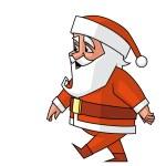Santa walking — Stock Photo #36679533