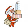 Santa shopping — Stock Photo