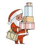 Santa shopping — Stock Photo #37152997