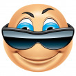 Emoticon cool — Stock Photo #41053473