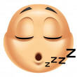 Emoticon sleeping — Stock Photo #41235599