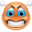 Emoticon angry — Stock Photo #41235787