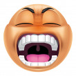 Emoticon furious — Stock Photo #41235895