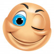Emoticon Winking — Stock Photo #41236023
