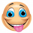 Emoticon crazy — Stock Photo #41236125