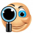 Stock Photo: Emoticon searching
