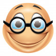 Emoticon glasses — Stock Photo #41236191