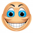 Emoticon smiling — Stock Photo #41236347