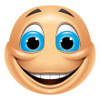 Emoticon smiling — Stock Photo #41236375