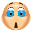 Emoticon shocked — Stock Photo #41236409