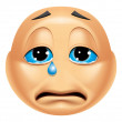 Emoticon crying — Stock Photo #41236463