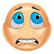 Emoticon afraid — Stock Photo #41237249